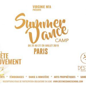 Inscription au SUMMER DANCE CAMP PARIS Du 25 au 27/28 juillet 2019 PROGRAMME