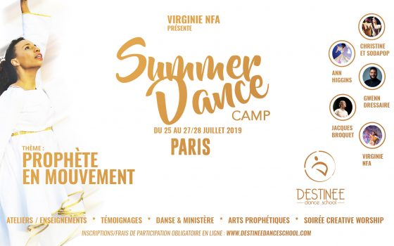 Inscription au SUMMER DANCE CAMP PARIS Du 25 au 27/28 juillet 2019 PROGRAMME